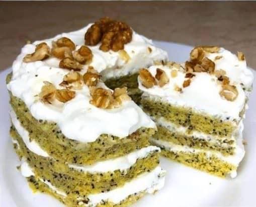 Смачний бісквітний торт готую за 5 хвилин в мікрохвильовці!