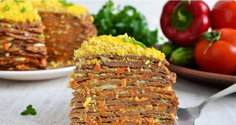 Сімейний рецепт: печінковий торт - смачна закуска для святкового столу