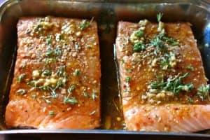 Маринад для гарячого копчення лосося