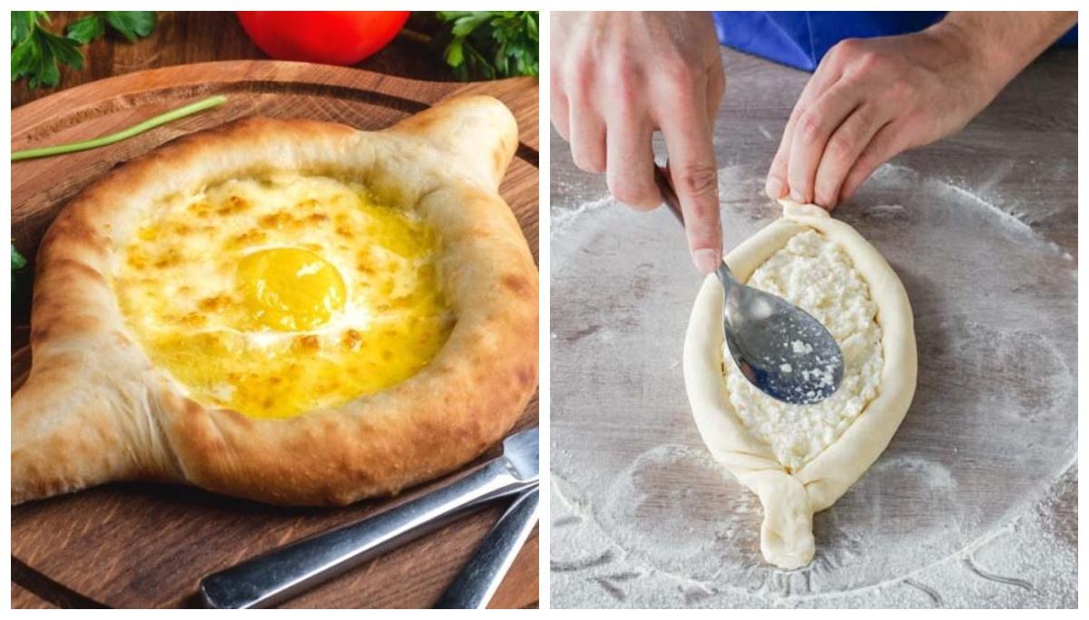 Хачапурі по-аджарськи «Човник з яйцем» - 8 покрокових рецептів з фото